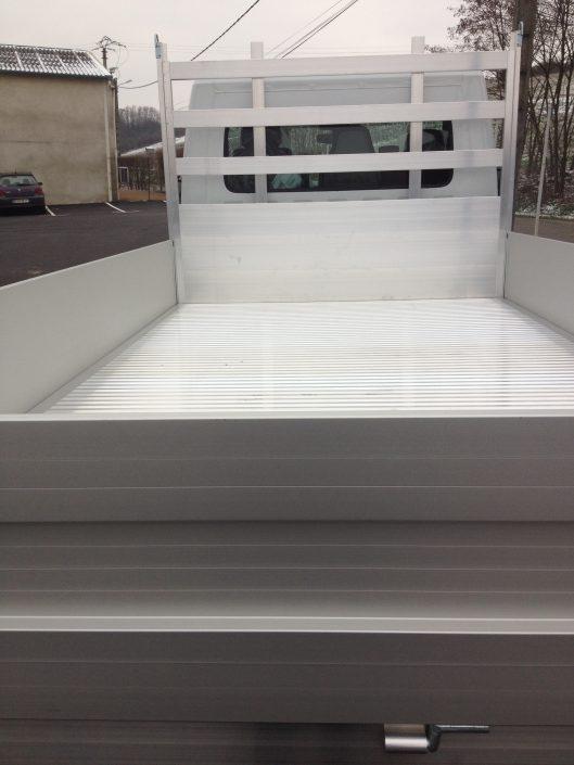 Plateau ridelles en aluminium