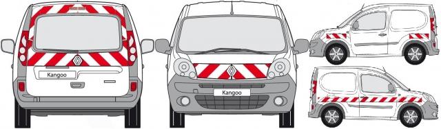 balisage des véhicules alterne rouge et blanc