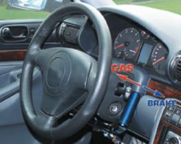 combinés et accélérateurs et frein sous volant elite