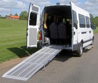 Rampe de chargement fauteuil TPMR