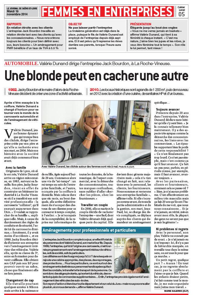 article presseJournal de Saône et Loire